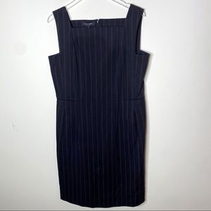 Lafayette 148 Black Pin Stripe Business Dress 10